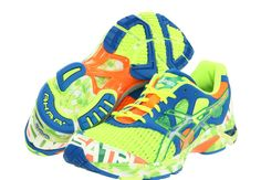 GEL-Noosa Tri™ 7 by ASICS - my running style just got elevated to new heights! Rainbow Sneakers, Colorful Sneakers, Cute Sneakers, Cute Shoes, Asics Gel Noosa, Running Shoes, Running Style, Running Gear, Walking Shoes