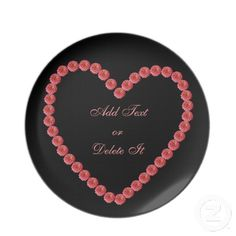 Pink Zinnia Heart plate  $24.95