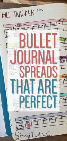Bullet Journal Spreads That Are Perfect