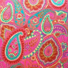 Pink Paisley or any color of paisley was the fad when I was in jr. Even boys wore paisley shirts, but not pink! Motif Paisley, Paisley Design, Paisley Pattern, Paisley Print, Art Et Illustration, Illustrations, Textiles, Textile Patterns, Pretty Patterns