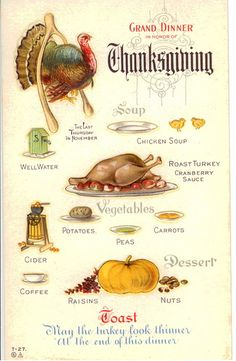 Happy Thanksgiving everyone! Thanksgiving Blessings, Vintage Thanksgiving, Thanksgiving Turkey, Happy Thanksgiving, Thanksgiving Recipes, Vintage Christmas, Vintage Postcards, Vintage Ads, Holiday Postcards