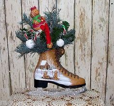 A Gingerbread Ice Skate that I painted.