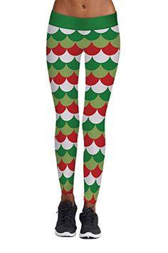 6f758768e6068 Meenew Women's Ugly Chritsmas Leggings Stripe Tights Workout Stretchy  Pants,#Chritsmas, #Leggings