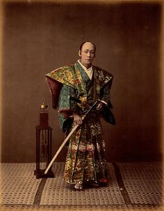 Armed and deadly: These Samurai are both seen clutching katana, or swords. The Samurai was the highest social caste until it was abolished as part of the Meiji reforms in the late century Japanese History, Japanese Culture, Japanese Art, Modern History, Japanese Fashion, Real Samurai, The Last Samurai, Samurai Weapons, Samurai Swords
