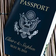 Passport Invitation or Save the Date  by SproullieDesigns on Etsy. , via Etsy.