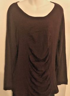 dd7709c6b5739c INC International Concepts 2X Port (Wine) Knit Top L Sleeve Rayon Blend NWT