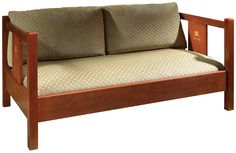 Stickley mission style loveseat
