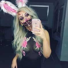 Hi!   Been all up in it with the Nordic Face Awards this week, but got this coming for you! Will be posted Tuesday night   Lav jo    #makeuptutorial #youtuber #gore #sfx #sfxmakeup #zombiemakeup #zombie #twitch #zombiebunny #bunny #bunnymakeup