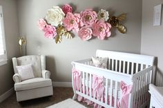 Brooke & Jane pink and gold baby girl nursery