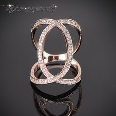 IYOE Wedding Exaggerated Rings Rose Gold Plated Classic CZ Twist Rings For Women 2015 Fashion Crystal Ring Jewelry-in Rings from Jewelry on Aliexpress.com   Alibaba Group