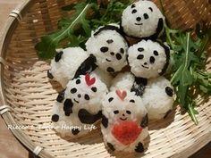 ゆる~い♪おひな祭り♪パンダおにぎり ☆ Panda|レシピブログ