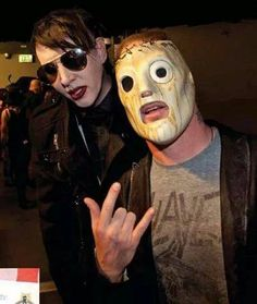 marilyn manson and corey taylor ♥ It doesn't get any better than this!!!
