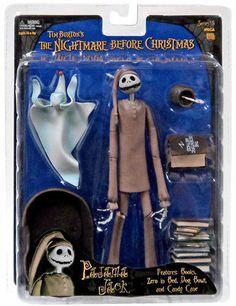 NECA Nightmare Before Christmas Figure Pajama Jack with Sleeping Zero