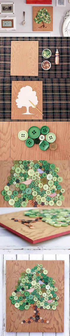 Simples diy com botoes