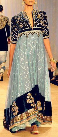 Pakistani dress. No, I didn't pin this to the wrong board :) Wouldn't something like this, made of natural fibres and less rigid in the top part, feel wonderful for a Spoonie? Properly designed, a bra could be eliminated from being necessary in public. We could start a new fashion trend! #latestpakistanidresses
