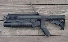 Big Guns, Cool Guns, M203 Grenade Launcher, Combat Gear, Tactical Survival, Custom Guns, Military Weapons, Self Defense, Airsoft