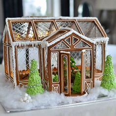 Find images and videos about winter, christmas and gingerbread on We Heart It - the app to get lost in what you love. Gingerbread House Designs, Christmas Gingerbread House, Noel Christmas, Christmas Goodies, Christmas Treats, Christmas Baking, Winter Christmas, All Things Christmas, Christmas Decorations