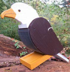 AMERICAN BALD EAGLE BIRD FEEDER Amish Handmade PHILADELPHIA EAGLES NFL Backyard