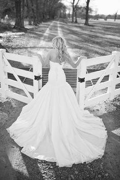gorgeous dress, gorgeous farm entrance