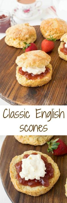 Classic English scones are flaky, light and fluffy and quintessentially British. Topped only with jam, clotted cream along with a pot of tea, they are perfect for breakfast or afternoon tea.  The Ultimate Pinterest Party, Week 106