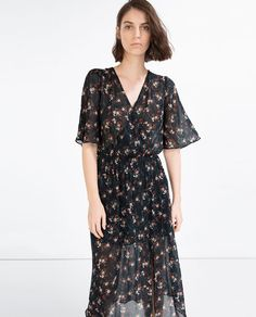 Image 3 of LONG CROSSOVER DRESS from Zara