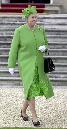 Queen Elizabeth II's rainbow wardrobe