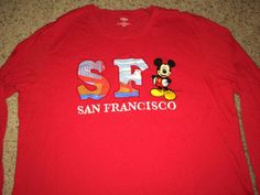 Sale Vintage MICKEY MOUSE SF San Francisco long by casualisme