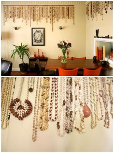 Necklace wall decorations