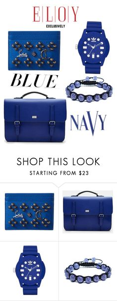 """""""The Blues"""" by eloy-exclisively on Polyvore featuring Christian Louboutin, Ted Baker, adidas, Bling Jewelry, COVERGIRL, men's fashion and menswear"""