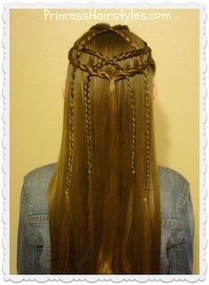 Braided lattice pull-through hairstyle tutorial
