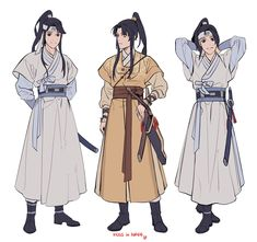 Read Korea ver from the story MDZS,SVSSS,HOB Fanart & Photo by xing_hyunee (အ႐ွင္း😆) with reads. Samurai, Korean Traditional, Traditional Outfits, Mode Kimono, Chinese Clothing, Drawing Clothes, Art Reference Poses, Character Design References, Character Outfits