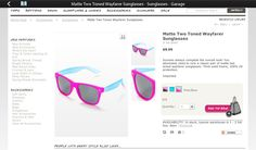 Wayfarer two-toned matte sunglasses in pink and blue