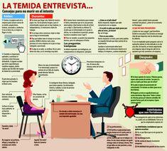 Hola Hoy os presento una infografía sobre la temida y esperada entrevista de trabajo. Si tenéis la suerte de tener alguna no dejéis de leerlo y aplicar los consejos, os vendrán bien. ¡Ah! y fundame...