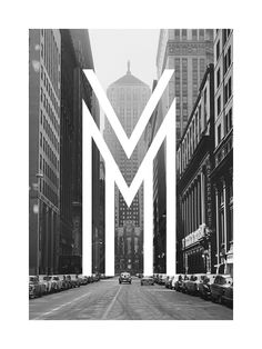 metropolis font with an awesome b/w pic, great combination