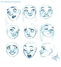 Drawing some more crazy looking expressions!
