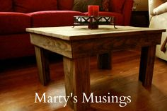 Marty's Musings: DIY Table made of old Fence Posts. Yup. I think I have enough fence boards to make a *few* tables. :)