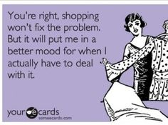 Shopping addiction ecard