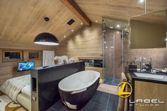 Photos of villa Chalet Miravidi in Northern Alps Tv In Bedroom, Bedroom With Ensuite, Bedrooms, Luxury Ski Holidays, Cinema Room, Massage Room, Living Room Tv, Open Plan Kitchen, Workout Rooms
