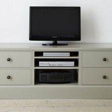 #thedormyhouse Home Office - Painted Furniture - Multi media storage