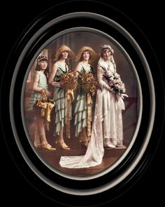 1930 Bride with her attendants.