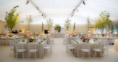 Simple elegant wedding reception