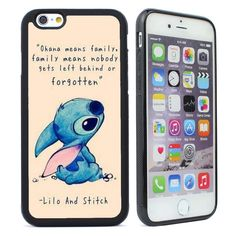 Disney Lilo and Stitch Ohana Means Family Quote iPhone 4 5/5s 5c 6 6s Plus Case #UnbrandedGeneric