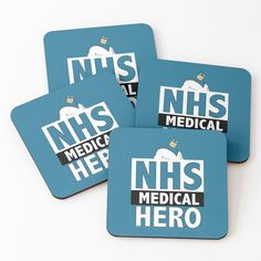 Thank You Nurses, National Health Service, Get Well Gifts, Free Stickers, One Sided, Coaster Set, Thankful, Medical, Hero