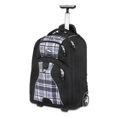 "High Sierra Freewheel Wheeled Book Bag    Price: $47.99 - $139.95        Materials: Duralite Ripstop, Waffle Weave, 600-denier Duralite Size: 20.5"" x 13.5"" x 8""Capacity: 2100 cubic-Inch               http://highsierrafreewheelwheeledbook.hotproductsinusa.com"