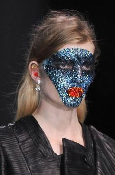 Swarovski Masks at Givenchy Spring 2014 | via @StyleCaster