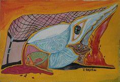 Svariopinto 2: del 2002, mis 50x35. Acrilico su cartone ondulato