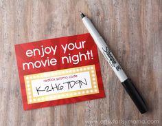 Free Printable Redbox Card gift idea Source by artsyfartsymama Movie Basket Gift, Movie Night Gift Basket, Movie Gift, Teacher Appreciation Gifts, Teacher Gifts, Teacher Valentine, Valentines, Redbox Promo Codes, Retirement Gifts For Men
