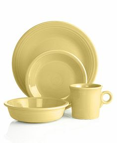 Yellow dinnerware? Perfect for dining alfresco Fiesta Dinnerware BUY NOW!