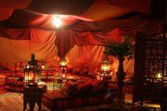 Morrocan style room