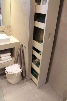 Modern Bathroom Design Ideas with Amazing Storage – Bathroom Furniture – Bathroom Ideas Mold In Bathroom, Small Bathroom Storage, Storage Spaces, Storage Ideas, Storage Solutions, Bathroom Cupboards, Bathroom Beach, Bathroom Styling, Bad Inspiration